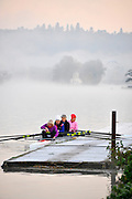 Henley, United Kingdom, General pictures, Rowing, Canoeing, Sunrise, early morning training, equipment: blades/oars   Saturday  16/11/2013.  [Mandatory Credit: Karon Phillips/Intersport, Images}