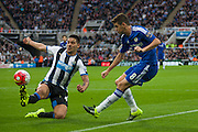 Chelsea FC Oscar gets the ball in to the Newcastle box during the Barclays Premier League match between Newcastle United and Chelsea at St. James's Park, Newcastle, England on 26 September 2015. Photo by Craig McAllister.