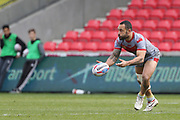 Paul Aiton for Catalan Dragons during the Betfred Super League match between Salford Red Devils and Catalan Dragons at the AJ Bell Stadium, Eccles, United Kingdom on 30 March 2018. Picture by George Franks.