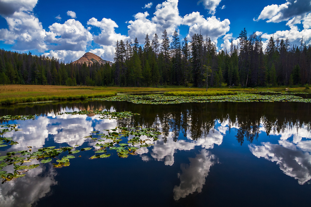 Lake Marion sits in Utah's Uinta mountains. After a little hiking you come across this gem of a small little lake. While the fishing is alright, the reflections on a warm Summer cloud-filled day are great!