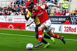 Jake Hastie of Rotherham United attempts top hold off Fankaty Dabo of Coventry City - Mandatory by-line: Ryan Crockett/JMP - 13/07/2019 - FOOTBALL - Aesseal New York Stadium - Rotherham, England - Rotherham United v Coventry City - Sky Bet League One