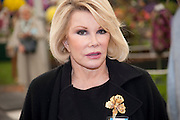 JOAN RIVERS, PRESS PREVIEW. The RHS Chelsea Flower Show 2011. The Royal Hospital grounds. Chelsea. London. 23 May 2011. <br /> <br />  , -DO NOT ARCHIVE-© Copyright Photograph by Dafydd Jones. 248 Clapham Rd. London SW9 0PZ. Tel 0207 820 0771. www.dafjones.com.