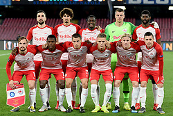 March 7, 2019 - Naples, Naples, Italy - RB Salzburg team poses Before the UEFA Europa League match between SSC Napoli and RB Salzburg at Stadio San Paolo Naples Italy on 7 March 2019. (Credit Image: © Franco Romano/NurPhoto via ZUMA Press)