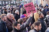 La manifestation pour l'égalité et pour le mariage gay du 27 janvier organisée par l'Inter-LGBT et le collectif Agissons pour l'égalité.