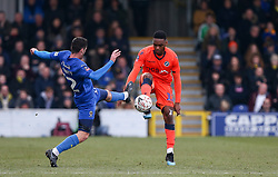 Aiden O'Brien of Millwall and Mahlon Romeo of Millwall challenge for the ball - Mandatory by-line: Arron Gent/JMP - 16/02/2019 - FOOTBALL - Cherry Red Records Stadium - Kingston upon Thames, England - AFC Wimbledon v Millwall - Emirates FA Cup fifth round proper