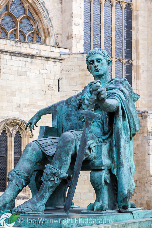 This bronze statue of Constantine the Great, near York Minster, was located near the spot where he was declared Augustus in 306.