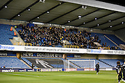 Oxford's travelling support ahead of the Johnstone's Paint Trophy semi final first leg match between Millwall and Oxford United at The Den, London, England on 14 January 2016. Photo by Michael Hulf.