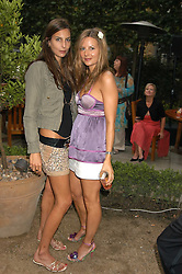 Left to right, sisters ZARA SIMON and JESSICA SIMON at the Tatler Summer Party in association with Moschino at Home House, 20 Portman Square, London W1 on 29th June 2005.<br /><br />NON EXCLUSIVE - WORLD RIGHTS