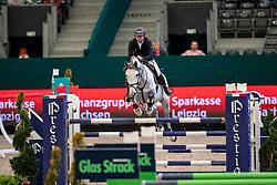 ENGLBRECHT Roland (AUT), Mevisto's Corwinni<br /> Leipzig - Partner Pferd 2019<br /> IDEE Kaffe Preis<br /> CSI5*<br /> 18. Januar 2019<br /> © www.sportfotos-lafrentz.de/Stefan Lafrentz