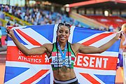 Women's Long Jump Final winner, Abigail IROZURU who leaped to a personal best of 6.86m during the Muller British Athletics Championships at Alexander Stadium, Birmingham, United Kingdom on 25 August 2019.
