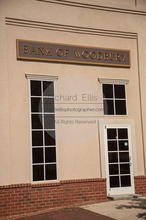 Bank of Woodbury film set where the television series The Walking Dead is filmed May 8, 2013 in Senoia, Georgia.