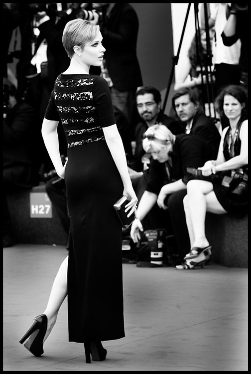 Evan Rachel Wood  attends the premiere of Mildred Pierce, during the 68th Venice Film Festival.