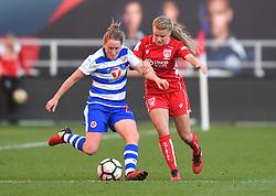 Olivia Fergusson of Bristol City Women challenges Rachel Rowe of Reading Women - Mandatory by-line: Paul Knight/JMP - 22/04/2017 - FOOTBALL - Ashton Gate - Bristol, England - Bristol City Women v Reading Women - FA Women's Super League 1 Spring Series