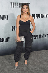 August 28, 2018 - Hollywood, California, U.S. - Lauren Giraldo arrives for the premiere of the film 'Peppermint' at the Regal Cinemas LA Live theater. (Credit Image: © Lisa O'Connor/ZUMA Wire)