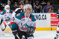 KELOWNA, CANADA - FEBRUARY 10: Erik Gardiner #12 of the Kelowna Rockets skates against the Vancouver Giants on February 10, 2017 at Prospera Place in Kelowna, British Columbia, Canada.  (Photo by Marissa Baecker/Shoot the Breeze)  *** Local Caption ***