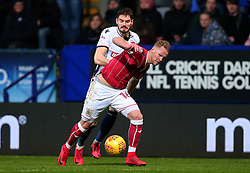 Gustav Engvall of Bristol City takes on Dorian Dervite of Bolton Wanderers - Mandatory by-line: Robbie Stephenson/JMP - 02/02/2018 - FOOTBALL - Macron Stadium - Bolton, England - Bolton Wanderers v Bristol City - Sky Bet Championship