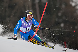 17.02.2013, Planai, Schladming, AUT, FIS Weltmeisterschaften Ski Alpin, Slalom, Herren, 1. Durchgang, im Bild Giuliano Razzoli (ITA) // Giuliano Razzoli of Italy in action during 1st run of the mensSlalom at the FIS Ski World Championships 2013 at the Planai Course, Schladming, Austria on 2013/02/17. EXPA Pictures © 2013, PhotoCredit: EXPA/ Johann Groder