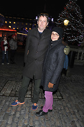 JOE CORNISH and ANNABEL HUTTON at the opening of the 2012 Somerset House Ice Rink on 15th November 2012.