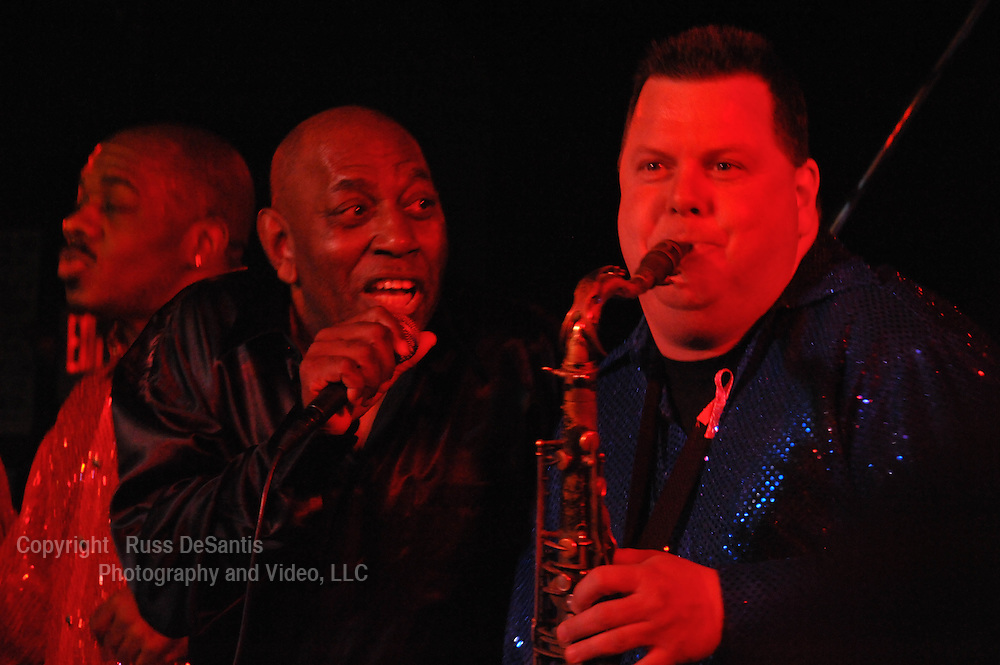 """JT Bowen sings as he watches """"Screamin"""" Steve Barlotta play the sax at the Stone Pony in Asbury Park. / Photo by Russ DeSantis Photography and Video, LLC"""