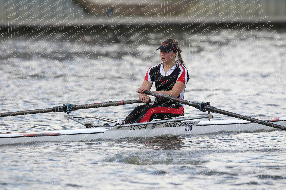 2012.09.29 Wallingford Long Distance Sculls 2012. Division 3. W.J18A 1x. Lady Eleanor Holles Boat Club.