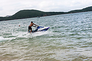 Tourist enjoying jetski in Nha Trang, Vietnam, Southeast Asia