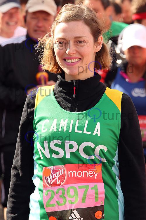 Camilla Rutherford, Virgin Money London Marathon, London UK, 24 April 2016, Photo by Brett D. Cove
