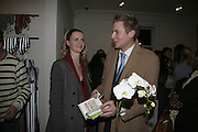 CHLOE DELAVIGNE AND ED GRANT' Copper: A Dog's Life' Lady Annabel Goldsmith book signing. Mungo and Maud, Elizabeth St. London. 20 February 2007.   -DO NOT ARCHIVE-© Copyright Photograph by Dafydd Jones. 248 Clapham Rd. London SW9 0PZ. Tel 0207 820 0771. www.dafjones.com.