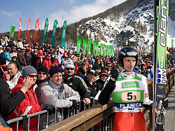 Robert Kranjec (SLO) at Flying Hill Team in 3rd day of 32nd World Cup Competition of FIS World Cup Ski Jumping Final in Planica, Slovenia, on March 21, 2009. (Photo by Vid Ponikvar / Sportida)