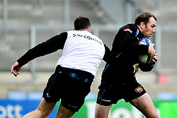 Max Bodilly during a training session at Sandy Park prior to their trip to La Rochelle in the European Rugby Champions Cup.  - Ryan Hiscott/JMP - 13/11/2019 - SPORT - Sandy Park - Exeter, England - Exeter Chiefs Training Session