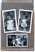 happy childhood moments photo album page 1950s England