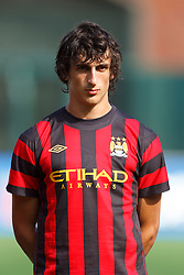 July 16, 2011; San Francisco, CA, USA;  Manchester City defender Stefan Savic (15) during player introductions before the game against Club America at AT&T Park. Manchester City defeated Club America 2-0.