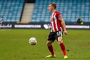 Sheffield United midfielder Ben Osborn (23) during The FA Cup match between Millwall and Sheffield United at The Den, London, England on 25 January 2020.