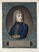 General  Bonaparte (1769-1821).  Aquatint published 1796.