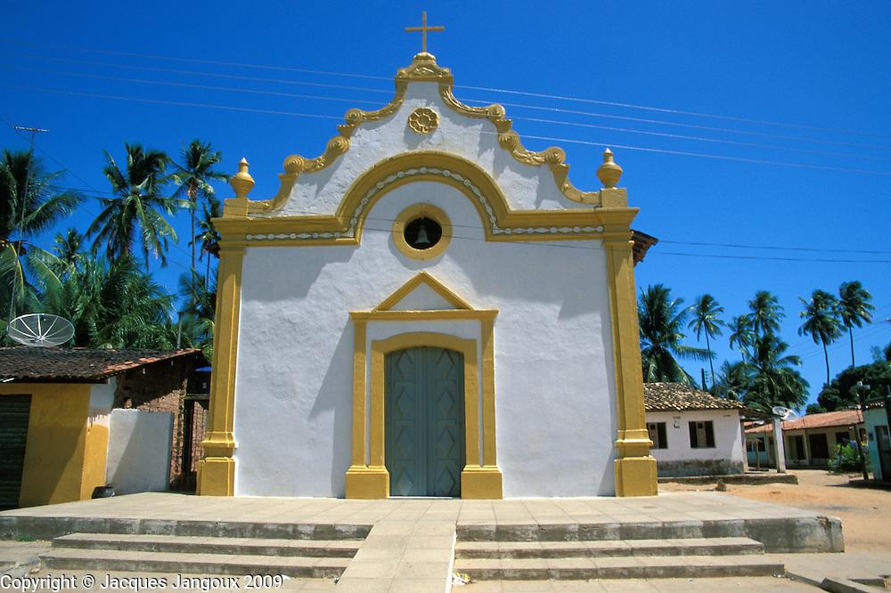Church in Tatuamunha, a village on the Atlantic coast, Alagoas, Brazil