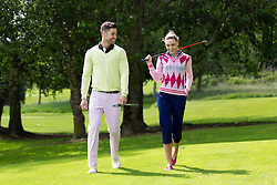 Repro Free: 24/06/2013 Models Sarah Morrissey and Craig Healy looked like pros today in The Burrow Golf Course, Stepaside, Dublin 18 as they showcase the best in designer golf apparel from labels-for-less retailer TK Maxx. Offering contemporary golf wear that combines style, tailoring and performance for golfers to sport on and off the course, TK Maxx Ireland has everything you need before teeing off all with up to 60% off the RRP. For more information, visit www.tkmaxx.ie or find them on Facebook. Picture Andres Poveda<br /> <br /> Sarah<br /> Shirt ?34.99<br /> Jumper ?22.99<br /> Pants ?34.99<br /> Shoes ?34.99<br /> <br /> Craig<br /> Jumper ?16.99<br /> Shirt ?22.99<br /> Trousers ?26.99<br /> Belt ?16.99<br /> Shoes ?54.99