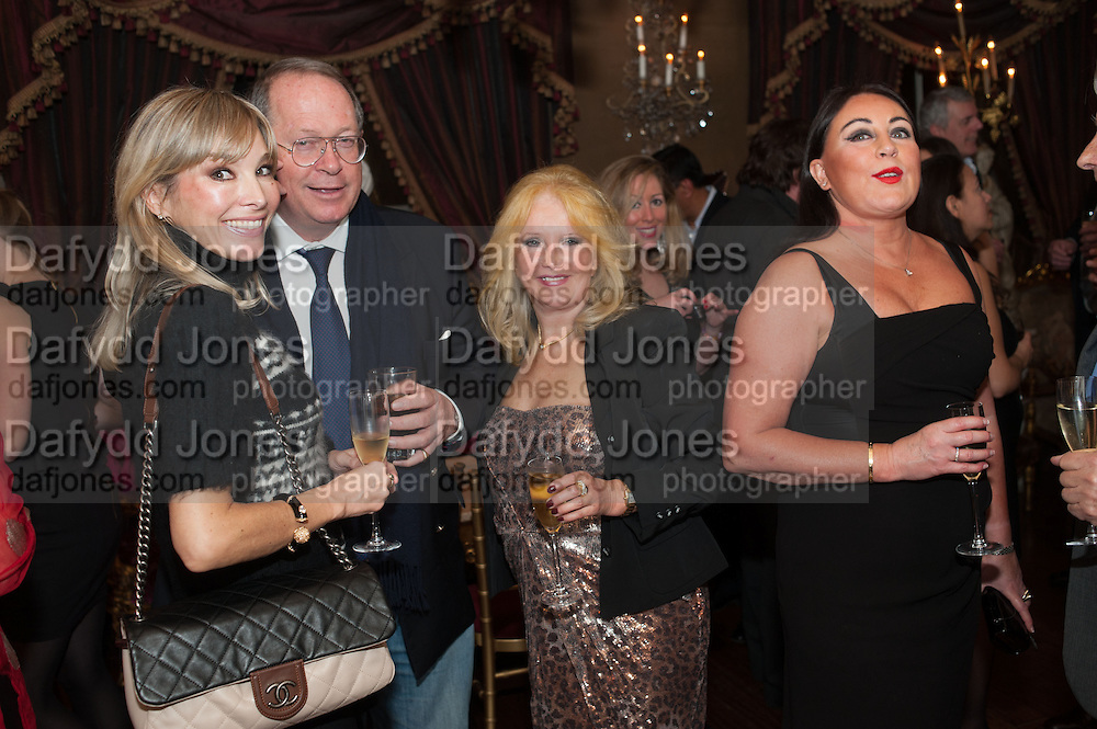 AURELIA BONITO; BARON MARC BURCA; EVA HAROLD; VIVIAN STAMP; , Eva Harold birthday party. Ballroom, Beach Blanket Babylon. Notting Hill, London. 19 November 2012.