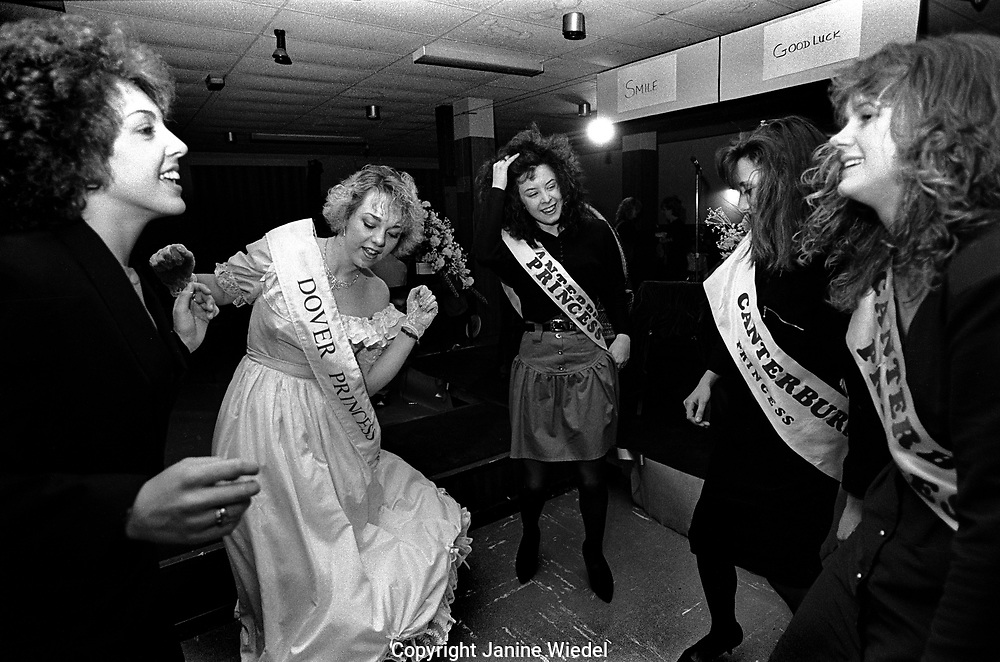Women taking part in the Miss Dover Competition in Dover in 1980s