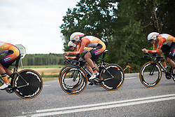 Katarzyna Pawlowska (POL) of Boels-Dolmans Cycling Team rides in sync with teammate Karol-Ann Canuel (CAN) during the 42,5 km team time trial of the UCI Women's World Tour's 2016 Crescent Vårgårda women's road cycling race on August 19, 2016 in Vårgårda, Sweden. (Photo by Balint Hamvas/Velofocus)