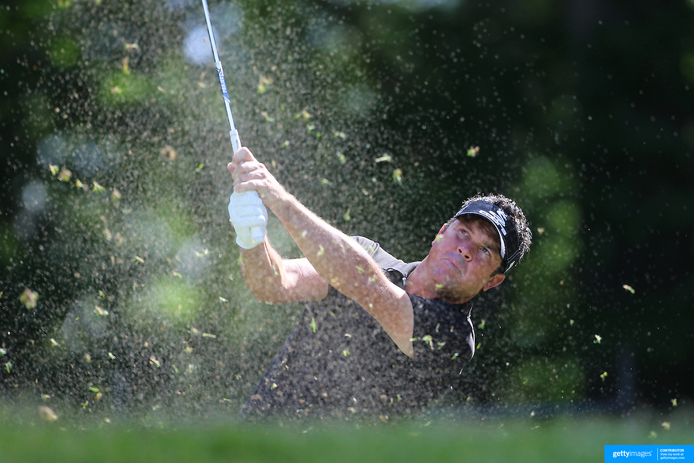 Eric Axley, USA, in action during the third round of the Travelers Championship at the TPC River Highlands, Cromwell, Connecticut, USA. 21st June 2014. Photo Tim Clayton