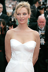 """11.05.2011, Cannes, FRA, Filmfestspiele von Cannes 2011, im Bild Actress Uma Thurman attending the 63rd Annual Cannes Film Festival / Festival de Cannes 2011 - Opening and premiere of """"Midnight in Paris"""" .FESTIWAL FILMOWY W CANNES.PREMIERA FILMU.FOT. EXPA Pictures © 2011, PhotoCredit: EXPA/ EXPA/ Newspix/ Future Images +++++ ATTENTION - FOR AUSTRIA/(AUT), SLOVENIA/(SLO), SERBIA/(SRB), CROATIA/(CRO), SWISS/(SUI) and SWEDEN/(SWE) CLIENT ONLY +++++"""