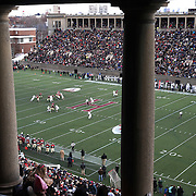 A general view of action from the stands during the Harvard Vs Yale, College Football, Ivy League deciding game, Harvard Stadium, Boston, Massachusetts, USA. 22nd November 2014. Photo Tim Clayton