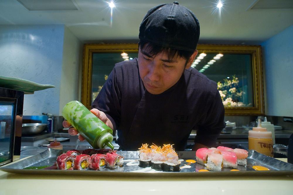 Sushi chef/co executive chef Noriaki Yasutake at Sei in NW Washington.