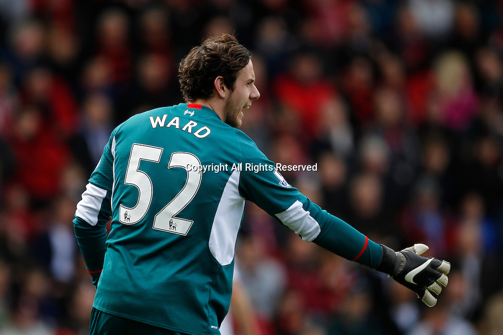 17.04.2016. Vitality Stadium, Bournemouth, England. Barclays Premier League. Bournemouth versus Liverpool. Liverpool keeper Danny Ward.