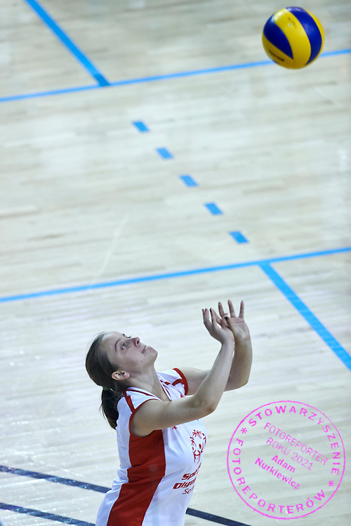 SO Serbia athlete in action while Unified Volleyball match between SO Serbia and SO USA Costa Rica during sixth day of the Special Olympics World Games Los Angeles 2015 on July 30, 2015 at Pauley Pavilion at UCLA (University of California Los Angeles) in Los Angeles, USA.<br /> <br /> USA, Los Angeles, July 30, 2015<br /> <br /> Picture also available in RAW (NEF) or TIFF format on special request.<br /> <br /> For editorial use only. Any commercial or promotional use requires permission.<br /> <br /> Adam Nurkiewicz declares that he has no rights to the image of people at the photographs of his authorship.<br /> <br /> Mandatory credit:<br /> Photo by &copy; Adam Nurkiewicz / Mediasport