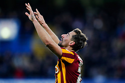 Filipe Morais of Bradford City celebrates scoring a goal to draw level at 2-2 after Chelsea led 2-0 at one point - Photo mandatory by-line: Rogan Thomson/JMP - 07966 386802 - 24/01/2015 - SPORT - FOOTBALL - London, England - Stamford Bridge - Chelsea v Bradford City - FA Cup Fourth Round Proper.