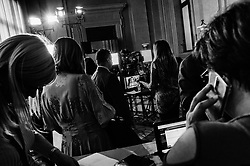 Journalists during the new round of consultations after the meeting between designated Prime Minister Carlo Cottarelli and Italian President Sergio Mattarella at the Quirinale Palace in Rome on 29 May 2018. Christian Mantuano / OneShot.