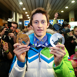 20140220: SLO, Winter sports - Reception of Slovenian athletes after Sochi Winter Olympic Games