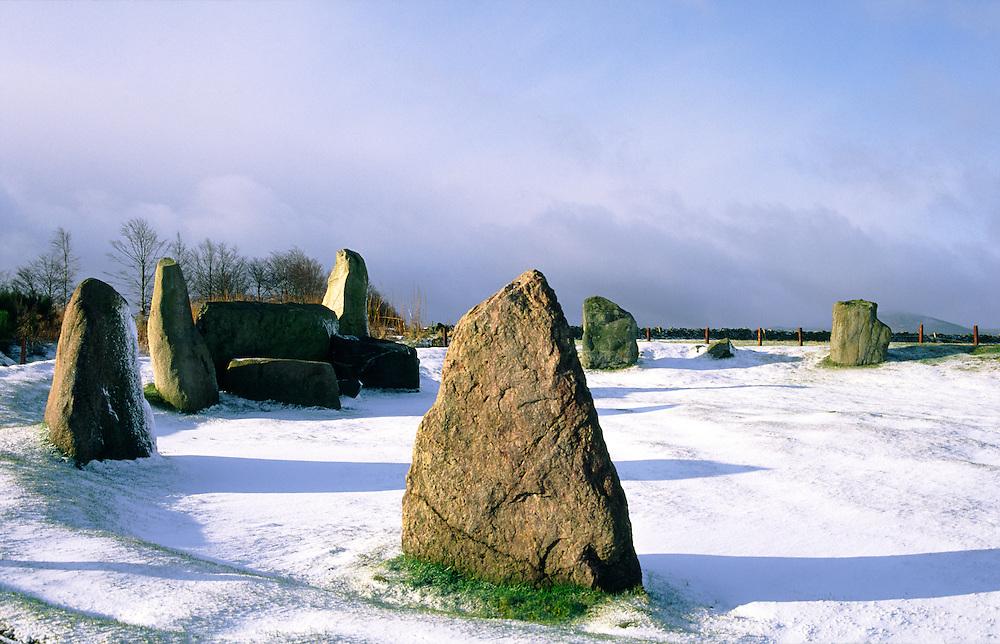 Easter Aquhorthies prehistoric recumbent stone circle 3rd millenium BC near Inverurie, Grampian, Scotland UK