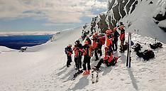 Ruapehu-Taranaki Alpine Rescue train on Mt Ruapehu