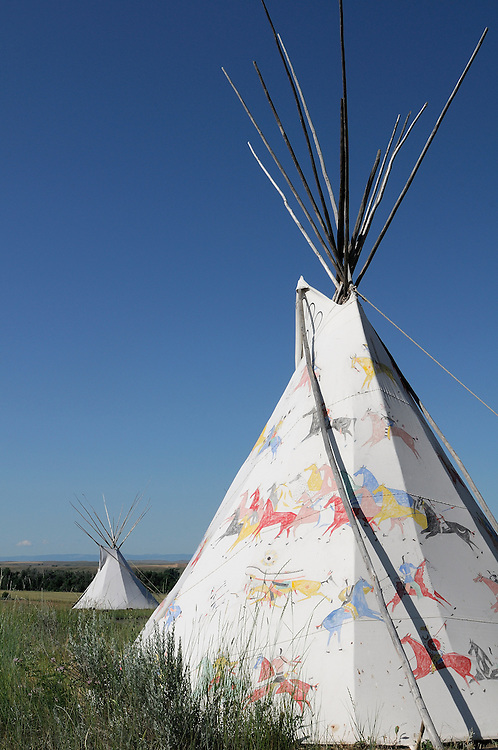 Tipi, Custer Battlefield Trading Post, Crow Agency, Crow Indian Reservation,  Montana, USA